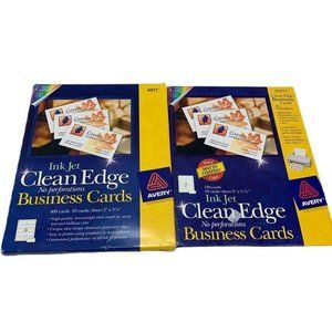 Avery Ink Jet Clean Edge Business Cards